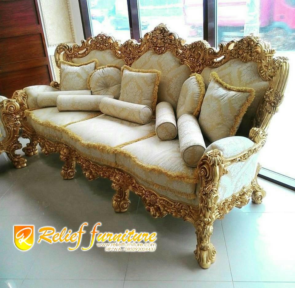 Kursi Tamu Ukir Sofa Jepara Mewah Terbaru Relief Furniture