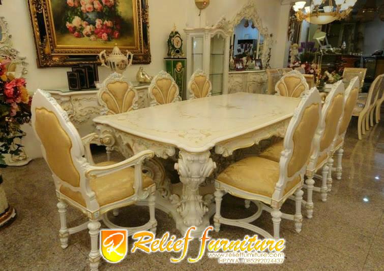 Meja Makan Ukir Sofa Jepara Mewah Antik Jepara Relief Furniture