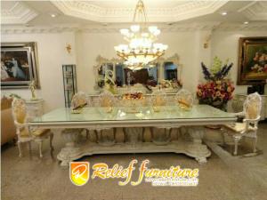Meja Makan Ukir Sofa Jepara Minimalis Antik Terbaru Relief Furniture