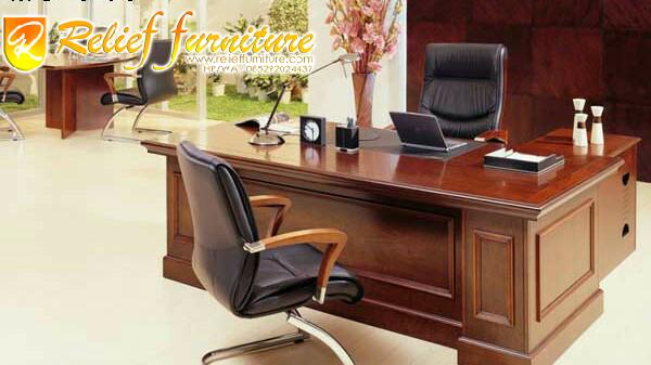meja kantor ukir relief furniture mewah minimalis 10